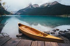 Let's go paddling (Adam Klekotka) Tags: canada alberta louise lake kayak boat landscape mount mountains mountain water nature banff travel