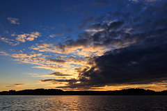 Cloudy sunset over lake Ellenösjön, Dalsland (Sweden). Shot taken from boat when trolling... (NaturaRAW) Tags: 2016 500px canonef1635f4lisusm canoneos6d ellenö ellenösjön facebook flickr fotosidan färgelanda google instagram landskap natur sjö skog vatten youpic sweden