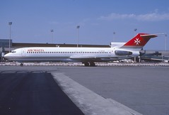 Air Malta Boeing 727-277; G-BPNS, July 1990 (Aero Icarus) Tags: avion plane aircraft flugzeug airport airmalta boeing727 gbpns trijet