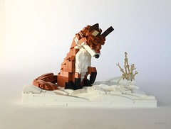 Winter Fox Hunt (Miro78) Tags: lego snow red fox hunt hunting winter brickbuilt character animal