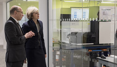 PM visits Wellcome Genome Campus (The Prime Minister's Office) Tags: tomevans theresamay primeminister laboratory genome cambridge uk research innovation