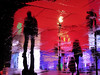 Circus Ghosts XXIII (Douguerreotype) Tags: uk gb britain british england london city urban night upsidedown reflection rain light street people water urbex red tourism lights piccadillycircus