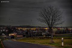 Tpen in the evening (GerWi) Tags: tpen kleinstadt dorf town himmel sky outdoor night nacht nachtaufnahmen abends abend landschaft landscape