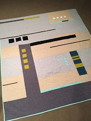 Abstract musings (Shiners view) Tags: space white geometric solids modern quilt