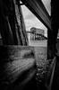 Angus Aftermath [Explored] (ShrubMonkey (Julian Heritage)) Tags: groyne storm angus selsey coast damage beach shingle timbers lifeboat station nikon mono bw