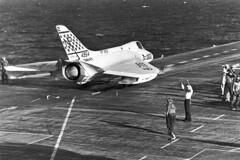VF-213 F4D-1 Skyray BuNo 134954 (skyhawkpc) Tags: vf213blacklions f4d1 skyray 134954 np302 usslexington 1959 douglas officialusnavy navy aircraft aviation naval ve17 usnavy