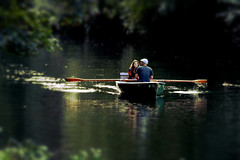 traditional roles (Wackelaugen) Tags: boat row rowboat rowingboat skiff water river neckar tbingen germany europe couple romantic blur blurred canon eos photo photography wackelaugen