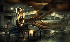 Steampunk engineer (Mark Frost :)) Tags: woman girl female steampunk scifi science fiction hair cg cgi daz studio 3d iray engineer aircraft metal steel shiny steam punk retro victorian