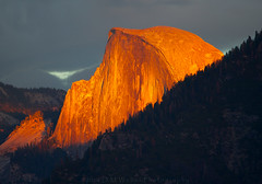 Red Faced in Yosemite (DM Weber) Tags: half dome yosemite national park california dmweber psa148 landscape sunset cloud cover sierra nevada red mononlith tisaack tunnel view telephoto