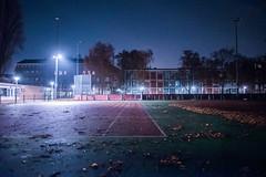 Left Court (rain3danimator) Tags: 24mmf14g f14 sonya7s a7s amsterdamatnight 1am tenniscourt autumn handheld