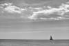 Less is more. (Carlos Arriero) Tags: blancoynegro blackandwhite lessismore menosesmás barco velero mar sea agua water composición composition nubes sky clouds viajar travel nikon d800e carlosarriero navegar surf horizonte horizon 50mm