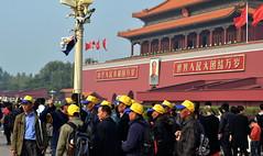 Tourists (hearn_josh) Tags: beijing china tourists tour group forbidden city tiananmen mao
