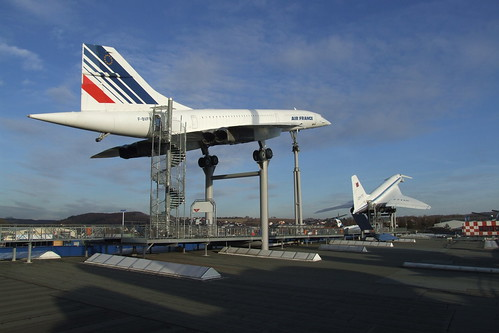 Concorde and Tupolev Tu-144 at Sinsheim Auto & Technik Museum, 21.02.2012.