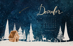 dicembre 2016 (giulia.dragone) Tags: illustration december christmas light christmasnight night woods fox rabbit gingerbreadhouse