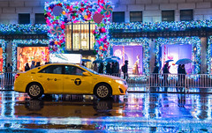 NYC | Instagram: @bayanalsadiq (Bayan AlSadiq) Tags: red travel nyc newyork places weather rain raining rainy beauty xmas lights people street new york city love