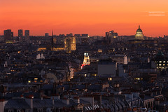 Cathédrale Notre-Dame, Grand REX & Panthéon, Paris (www.fromentinjulien.com) Tags: fromus75 fromus fromentinjulien fromentin flickr view exposure shot hdr dri manual blending digital raw photography photo art photoshop lightroom photomatix french francais light traitements effets effects world europe france paris parisien parisian capitale capital ville city town città cuida colocación monument history 2016 photographe photographer dslr eos canon 6d fullframe full frame ff 70200mm 70200 canonef70200mmf28l canon70200mmf28 urban travel architecture cityscape street seine sunset coucherdesoleil rooftop toit vueparisienne cathedrale notredame grandrex pantheon