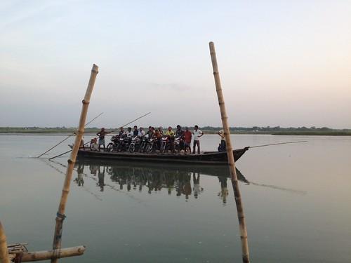 Boat coming ashore