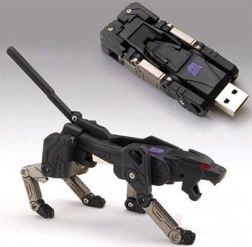 Transformer Shaped USB 2.0 Flash/Jump Drive Keychain  - DX