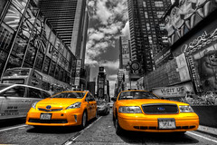 Selectivley Time Square (Basic Elements Photography) Tags: new york nyc newyorkcity urban ny newyork color yellow canon photography cab taxi urbanexploration 5d ef hdr downtownnewyork newyorknewyorkcity newyorkcab newyorkarchitecture 5dmarkii