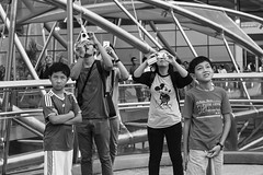 untitled (asaresult) Tags: street camera city bridge people canon photography kid singapore faces display streetphotography event emotions marinabay 2013 700d canon700d