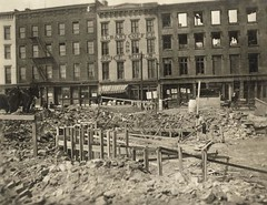 Construction of the Hudson River Dayline Ticket office on Broadway early 1900's  albany ny (albany group archive) Tags: old ny building vintage river boat early photo office broadway ticket historic steam albany hudson steamship 1900s dayline
