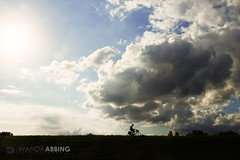 Into The Clouds 225/365 (Wanda Abbing Photography) Tags: blue bicycle silhouette clouds canon photography rebel wanda cyclist 365 sl1 day225 abbing canon100d day225365 3652013 week33theme 365the2013edition 13aug13