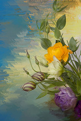 Lisy Bouquet (PhotosbySuzan) Tags: flowers beautiful simply lisianthus contemporaryartsociety moonseclipse creativemindsphotography afeastformyeyes atouchofmagic mailexchangeart artedeluz atyourbest anythingessentialisinvisibletotheeyes artdigitalvirtualgallery artcityart