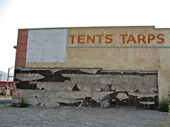 Tents Tarps, Pocatello, ID (Robby Virus) Tags: signs brick sign wall army tents store stacy ghost smith idaho surplus pocatello tarps