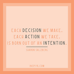 Each-decision---Salzberg (Inspiyr) Tags: inspiration work quote dreams motivation inspire success motivate intention