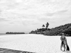A Moment in Paradise (RD Crisp Photography) Tags: blackandwhite beach mono paradise honeymoon tropical maldives cocopalm overwaterbungalow dhunikolhu silverefexpro panasoniclumixg1