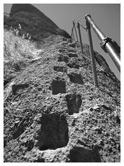 (dkrish) Tags: california blackandwhite bw climb olympus hike tones midday zuiko pinnacles evolt e330 1454mmf2835