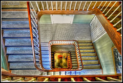 Stairs in old town hall, Arendal, Norway. (yvind Bjerkholt (Thanks for 17,5 million+ views)) Tags: city art beautiful norway architecture stairs norge nikon artistic vivid townhall hdr visualart trapper srlandet rdhuset arendal photomatix austagder cs6 creativemindsphotography mygearandme gamlerdhuset