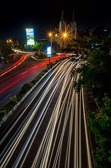 The Light (revanz77) Tags: city longexposure nightphotography light nature night indonesia landscape nikon cityscape le flare malang 1635 jawatimur d7000 uploaded:by=flickrmobile flickriosapp:filter=nofilter