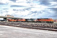 HDR-2013-11-10-CSX-K043-BNSF6860-SP(UP)6379-BNSF7146-BNSF8271-005 (ShutterBugStroll) Tags: railroad ny train pacific rail trains southern railcar sloan buffalony railyard railfan bnsf trainspotting westernnewyork csx trainspotter railart depewny k011 depewamtrakstation k040