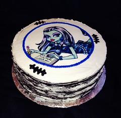 Moster High, Frankie Stein cake by Elicia, Santa Cruz,Ca, www.birthdaycakes4free.com