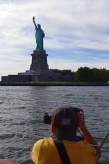 Capturing Lady Liberty (jomak14) Tags: lumix sailing panasonic hudsonriver g2 statueofliberty mft photographerinaction humanelement schooneradirondack microfourthirds m43rds lumixgvario1442mmf3556 nativem43lens