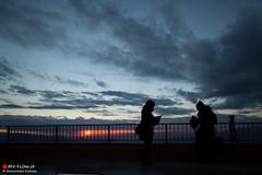 We are living through the same time. (Masahiko Futami) Tags: sunset portrait sky people cloud nature silhouette japan canon landscape asia photographer story  gradation        eos5dmarkiii