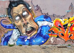 fight (Lcio Costi Ribeiro) Tags: street art braslia ink de concrete grafitti arte rua w3sul