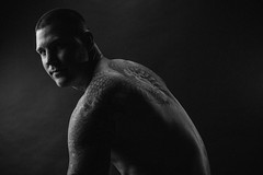 Shadows & ink (HeatherElizabethPhoto) Tags: portrait moody homestudio maleportrait blackandwhiteportrait canon5dmarkiii