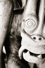 50mm Planar 1.7 on Contax 139Q (ramayanax) Tags: sculpture film analog 50mm kodak trix tribal ishootfilm contax analogue tribe cy planar woodspirit 139q mahmeri