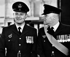 RAF Officers: Remembrance Sunday (fish95th) Tags: film analog streetphotography gimp remembrance wallingford raf remembrancesunday candidportrait minoltadynax7 rafofficer agfavistaplus200 tokinaafsd70210mmf456
