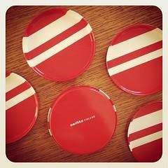 Aarikka of Finland Tin Coasters. (Alice et Christine) Tags: red ...