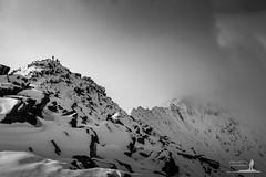 Striding On (Greg Whitton Photography) Tags: winter cloud mountain lake snow landscape hiking district panasonic ridge edge mountaineering hiker rambler rambling mountaineer helvellyn patterdale glenridding striding lx5 ulswater