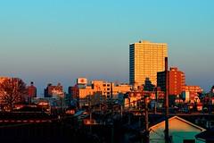 Sunrise (hidesax) Tags: morning sky japan sunrise reflections dawn nikon cityscape saitama nikkor sunlit ageo hidesax nikkor70200mmf28gedvrii d800e nikond800e
