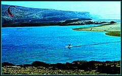 Parasurfing the Lagoon, Tamri (ronramstew) Tags: wind lagoon surfing agadir morocco shore maroc marruecos marokko parasurfing tamri