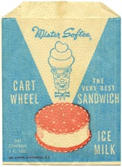 Mister Softee Cart Wheel Ice Milk Sandwich Bag (Alan Mays) T