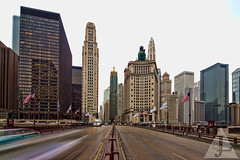 Michigan Avenue Chicago. (Jens Lambert Photography) Tags: street bridge snow chicago building london museum canon river photography drive downtown fort michigan north jens covered highrise carbon 333 wrigley lambert avenue effect wacker dearborn guarantee bridgehouse carbide tiltshift 17mm keystoning dusable