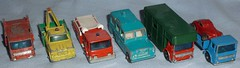 60's Matchbox Diecast (Darth Ray) Tags: horse truck fire site 60s box pipe rover safari hut land dodge wreck matchbox diecast pumper