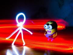 Alguien ha visto un fastasma (Ivhercor) Tags: light lightpainting toy fear ghost scare fantasma miedo juguete gru susto minion vision:sunset=0601 vision:sky=0652 vision:dark=0525