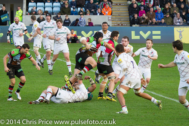 Quins 20 Leicester 6 LV Cup Pool 25th Jan 2014